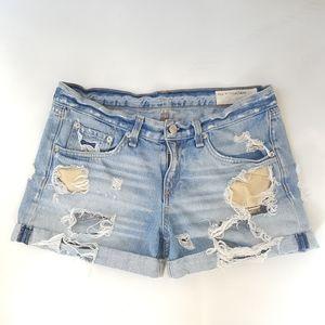 Rag & bone destroyed jean shorts, size 26, shorts.